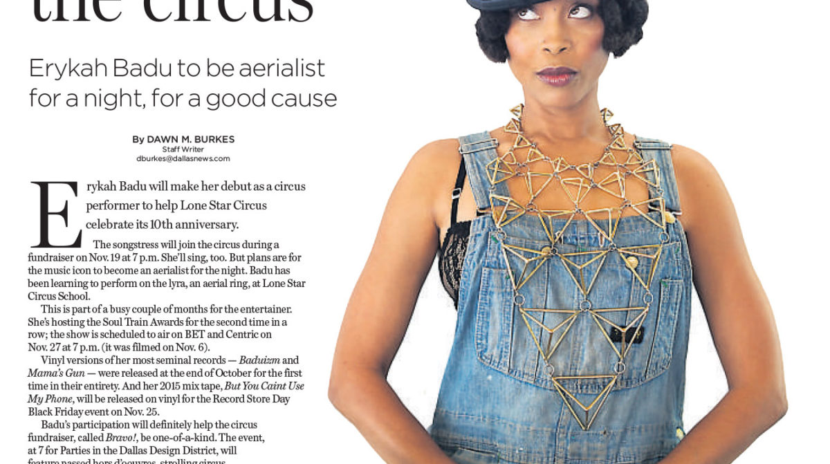 Dallas Morning News Guide LIve, Erykah Badu